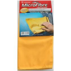 Микрофибърна кърпа, обезмаслителна, жълта 30 х 30 см