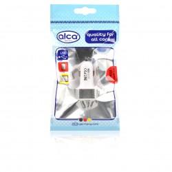 USB Разклонител за запалка - бяло/сребърен 12/24V
